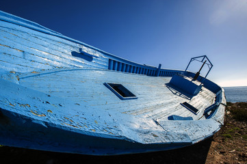 abandoned boat in Sicily
