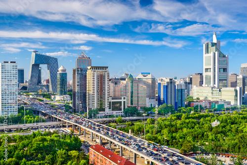 Deurstickers Beijing Beijing, China CBD Cityscape
