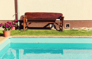 Bench and Swimming Pool
