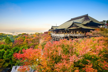 Kiyomizu-dera Shrine in Kyoto, Japan in Autumn