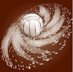 abstract volleyball background