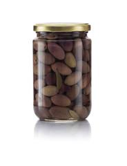 Glass Jar of Pickled Kalamata