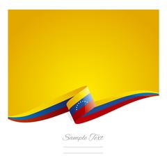 New abstract Venezuela flag ribbon