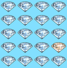 Bright sparkling brilliant. Seamless pattern.