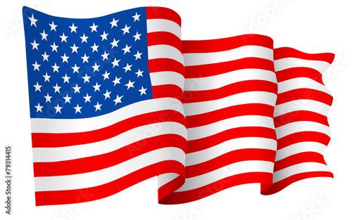 USA American flag waving - 79314415