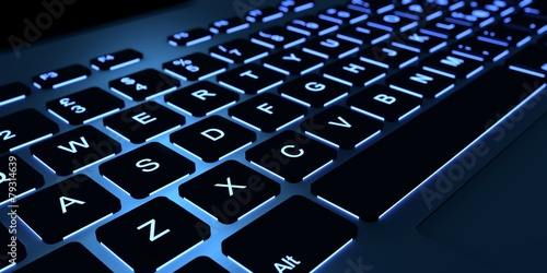 canvas print picture Backlight keyboard