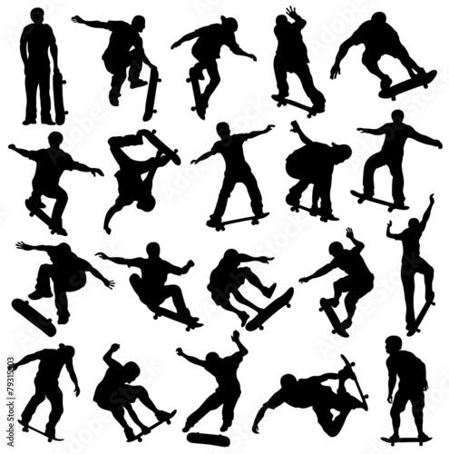 Fototapeta Skateboarding Silhouette, Skaters, Extreme Sport