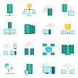Hosting service flat icons set - 79315674