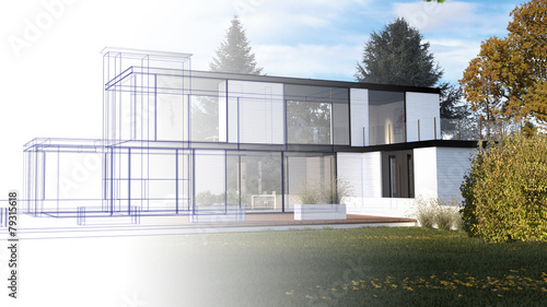 Bauplanung - Skizze - 79315618