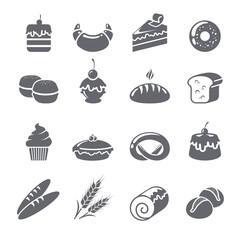 Baking Icons Black