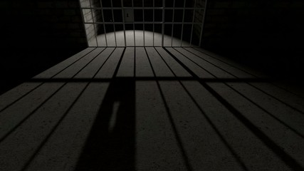 Prison bars cell closing long shadow