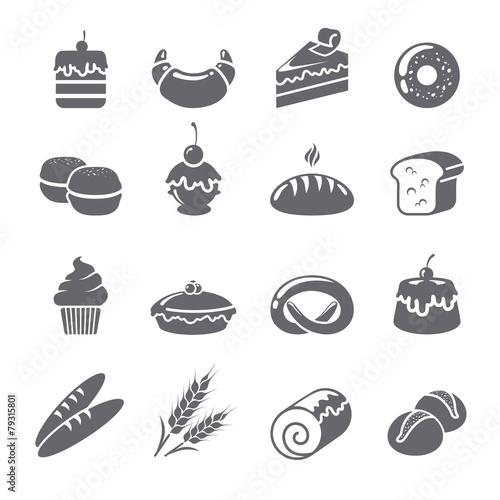 Baking Icons Black - 79315801
