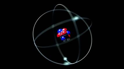 Atom single nucleus proton neutron electron loop