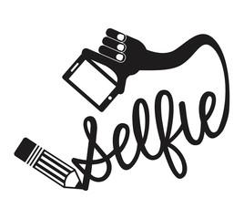 photo selfie design, vector illustration eps10 graphic