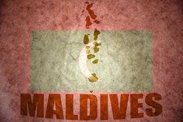 maldives vintage map
