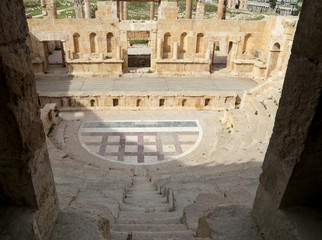 Amphitheater in Jerash (Gerasa of Antiquity), Jordan