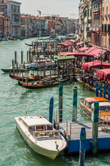 View from the Rialto Bridge on the Grand Canal, Venice, Italy