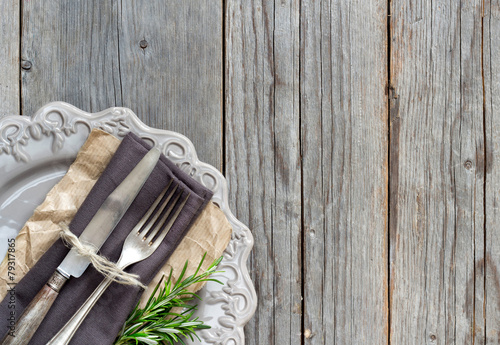 Staande foto Assortiment Vintage Table setting