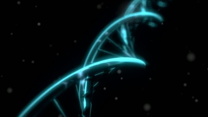 DNA RNA double helix slow tracking shot closeup depth of field D