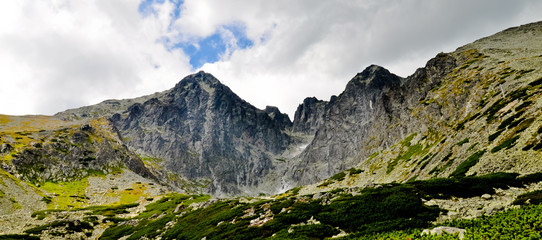 High Tatra mountains panorama