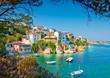 Leinwanddruck Bild - the Old part in town of island Skiathos in Greece