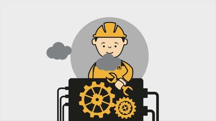 Repair Machine Video animation