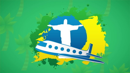 Travel to brazil, Video animation