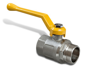 Gas valve with yellow handle