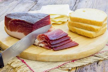 Slices of Italian Speck