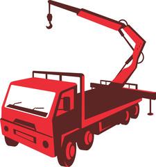 Truck Mounted Crane Cartage Hoist Retro