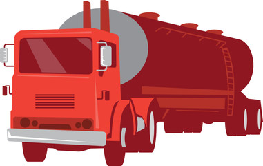Tanker Cement Truck Retro