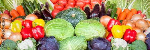 Fotobehang Groenten Gemüse als Hintergrund