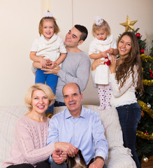 Family at the Christmas Tree