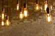 Leinwanddruck Bild - Antique Light Bulbs