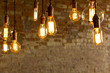Leinwandbild Motiv Antique Light Bulbs