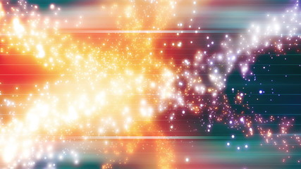 Looping Multicolor Bright Particle Abstract