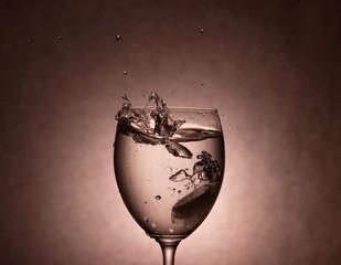 Water Splashing in Glass