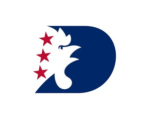 red white blue democrat party logo 41