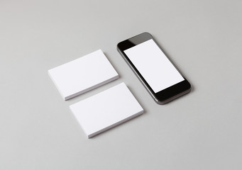 Business cards & smart phone