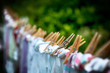 Eco-friendly washing line laundry drying - 79326034
