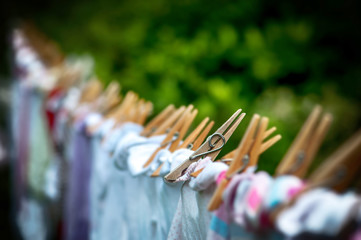 Eco-friendly washing line laundry drying