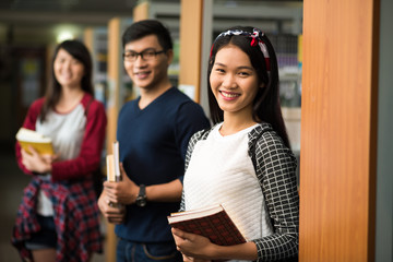 Happy Vietnamese students