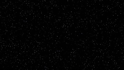 Stars twinkling night sky realistic loop