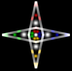 The four-pointed star