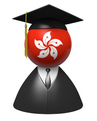 Hong Kong college graduate concept for schools and education