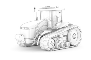 Caterpillar Tractor (drawing)