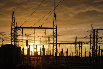Trafostation Umspannwerk E-Werk Stromerzeugung