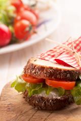 delicious vegetarian sandwich