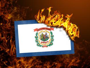 Flag burning - West Virginia