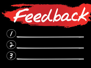 Feedback Blank List, vector concept background